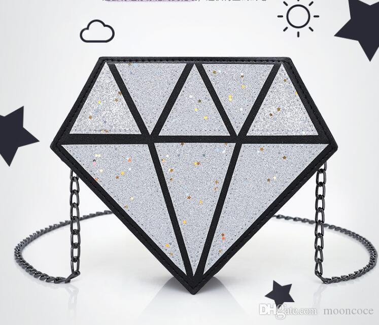 Mini mode hologramm tasche diamantform laser holographische crossbody kette tasche frauen messenger bags 2019
