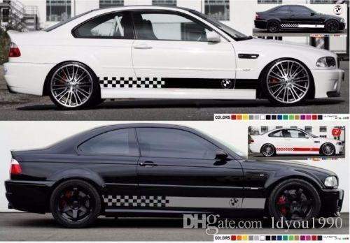 kit listra adesivo decalque compatível com BMW M3 E46 LED Xenon Farol Saias