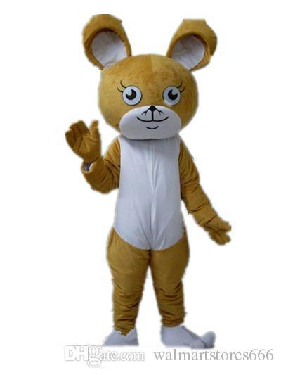2019 de alta qualidade quente na cabeça um marrom traje do rato mascote para adultos ao desgaste para venda
