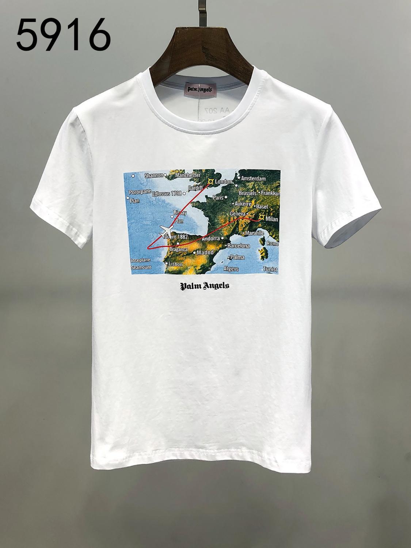 Maravilhoso alta qualidade manga curta T Shirt E Original Design Os homens e mulheres T Shirt Exquisite Pure Cotton T Shirt Tamanho M-3XL Ddf4419