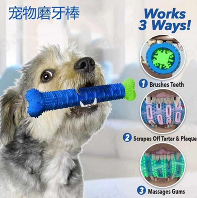 새로운 CHEWBRUSH 개 몰 스틱 애완 동물 몰 장난감 애완 동물 용품