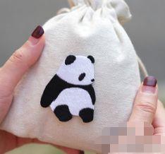 ree envío IDS Conjunto de 14PCS Hierro en Cute Panda Enamel Pin Parches lindos Pegatinas de animales de fiesta Kawaii Regalos lindos para mujeres al azar