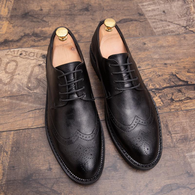 Misalwa Artı boyutu 38-47 Erkekler Brogue Moda Oxford Elbise Ayakkabı Erkek Modern Erkekler C27 için Gentleman El işi ayakkabı İyi giyimli