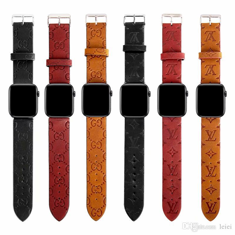 애플 시계 54321에 대한 Iwatch 스트랩 버클 스테인레스 스틸 럭셔리 애플 시계 밴드 40분의 38 / 42 / 44mm 조정 중립 패션 가죽