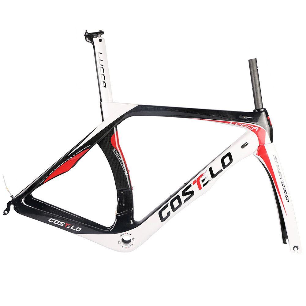 Costelo Lukca RB1000 Carbon Road Bike Red Ramyset Costole Bicycle Biccleta Ramka Pełna T1000 Włókna z włókna węglowego BB30