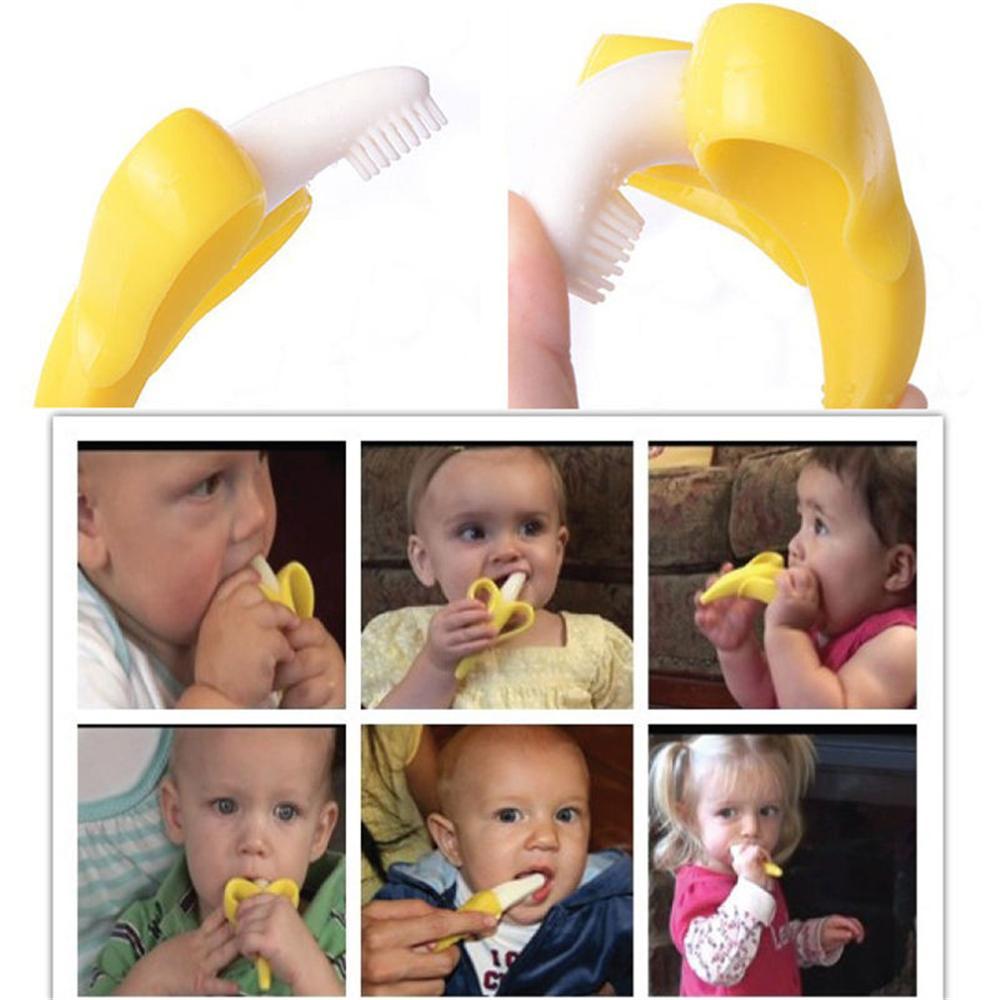 2020 del silicone di alta qualità spazzolino da denti e l'ambiente valori Baby Teether Anello per la dentizione dei bambini Teether bambini Masticare