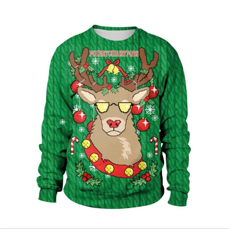 2019 Weihnachtsmann neue Art und Weise Hässliche Weihnachtss Unisex Frauen der Männer Sweater SweatshirtHoodie Weihnachten Pullover Pullover Hip Hop B257