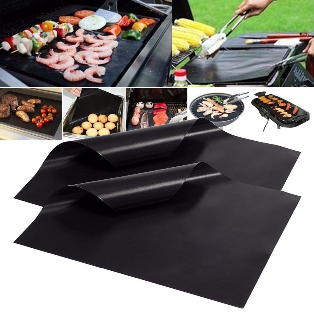 Non-Stick BBQ-Grill- und Backmatten wiederverwendbar Telcon-Cooking-Teller für Party PTFE-Grillpolster Barbecue Grillblatt Küchenwerkzeuge