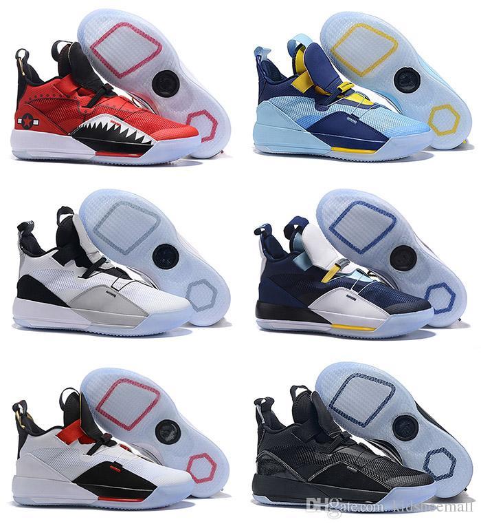 Avec la boîte des hommes 33 33s chaussures de basket pour les hommes de baskets rétro utilitaire blackout sneaker hommes chaussure garçons se préparent à voler chaussures