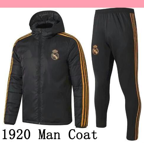 19 20 Real Madrid Cotton coat Down Jacket mens sweater hoodie tracksuits soccer outerwear clothes Hazard football winter coat