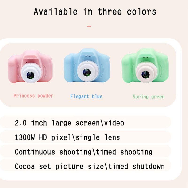 Kinder-Kamera Mini-Digital-nette Kamera für Kinder High Definition 1080 Smart-Schießen Video-Aufnahme-Funktion Toy Cameras Geschenke
