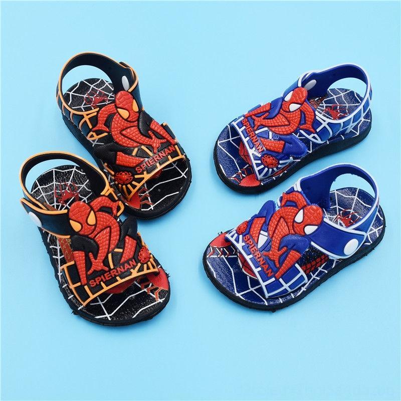 2126 infantil Yaz Çocuk Ayakkabıları Moda Örümcek Adam Boys Sandalet Casual Kaymaz Kauçuk Çocuk Sandalet Bebek Bebek Plaj Ayakkabı