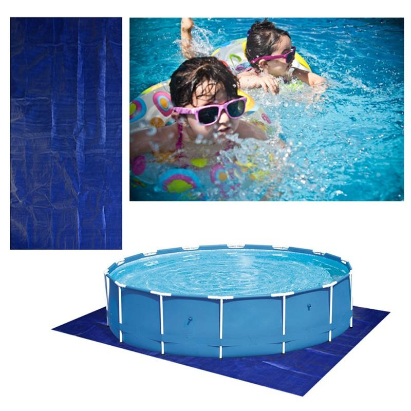 Rectangle Pool Cover DustRain und Decke für In-Ground oberirdische Schwimmbecken Pool Mat Halten Temperatur Decke Tarps
