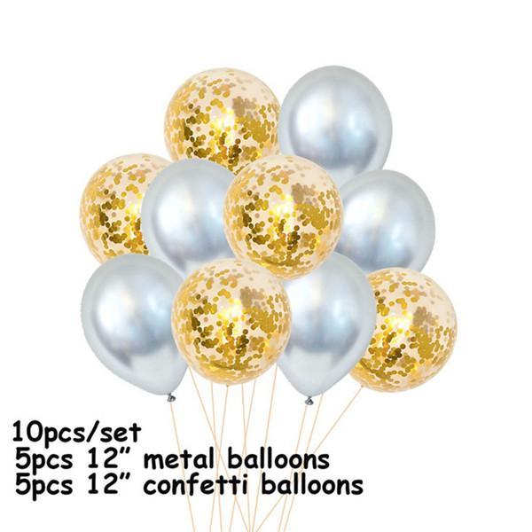 UK CONFETTI LATEX BALLOONS Helium Pearl Balloon Set Hen Party Birthday Christmas