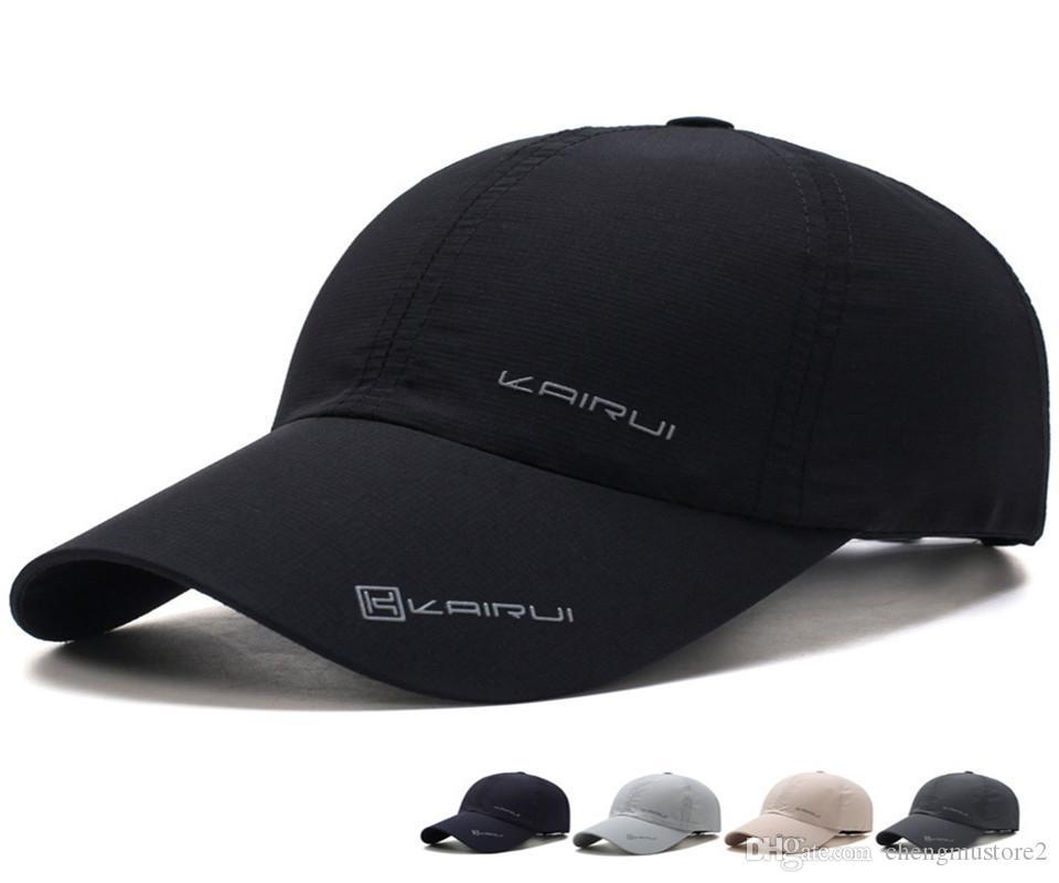 Tide cap en plein air sport rétro course chapeau baseball net soleil de loisirs d'été à séchage rapide des hommes de chapeau de chapeau