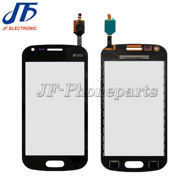 10pcs / lot Yüksek Kalite Dokunmatik Ekran Cam Sayısallaştırıcı Paneli Replacment Parça Samsung Galaxy Trend Plus, Duos 2 S7580 S7582 için LOGO