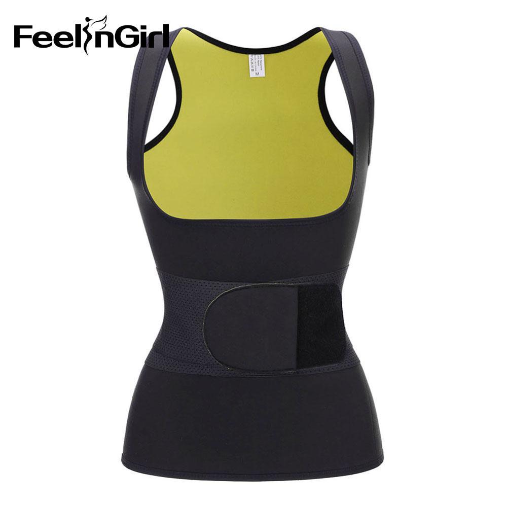 Atacado Mais Recente Mulheres Hot Sweat Vest Neoprene Sauna Vest Weight Loss Tummy Queimador De Gordura Emagrecimento Térmica Shaper Cintura Trainers-C
