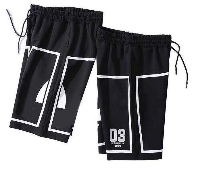 Повседневные мужские шорты пляж роскошные летние короткие брюки тренажерный зал письма печатные горячие продажи дизайнер длиной до колен активная одежда Одежда для мужчин