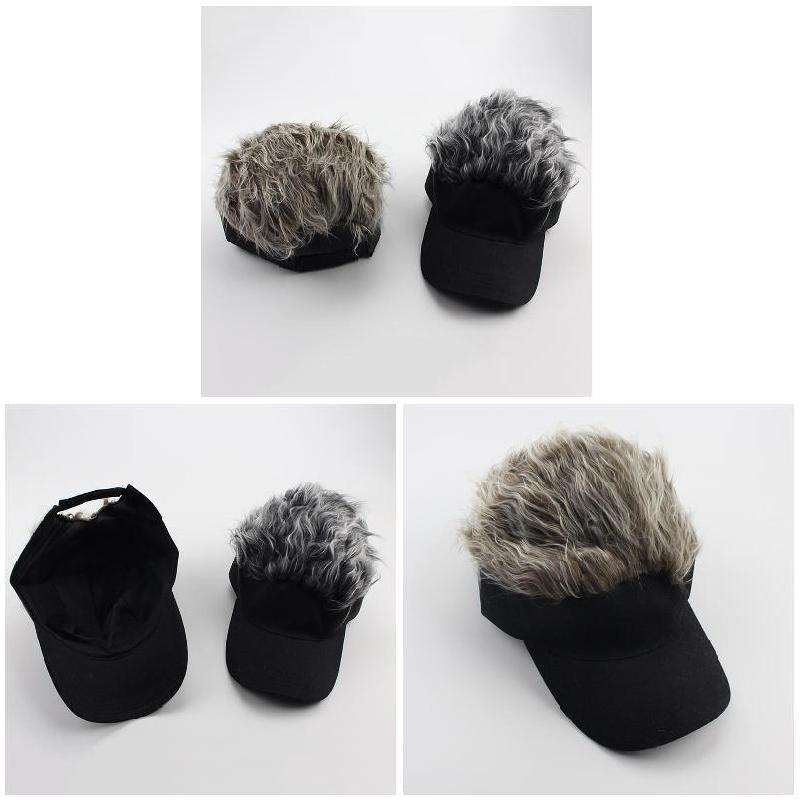 1 шт. парик бейсболка солнцезащитный козырек крышка с шипами волосы зима теплая открытый шапки SAL99