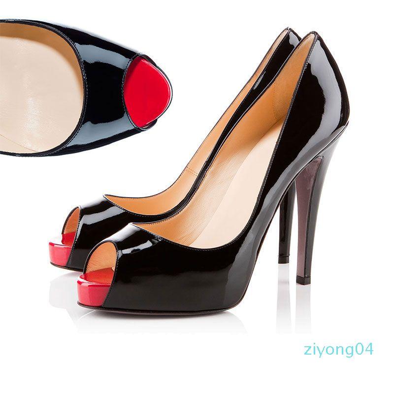 2019 Designer-Schuhe Turnschuhe So Kate Styles High Heels Rot grundiert Heels 12cm echtes Leder-Punkt-Zehe-Pumpen Gummigröße 35-42 zz04