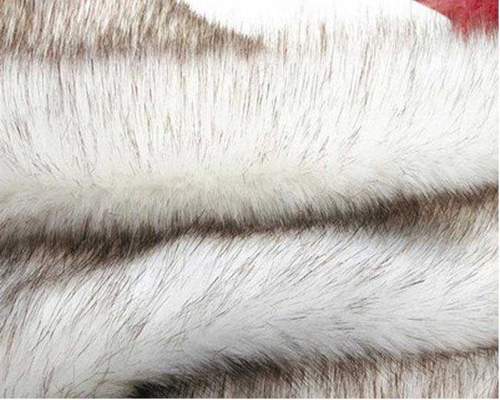 pointe colorant blanc de haute qualité en fausse fourrure, 3.5cm de velours en peluche tissus, tissu de col de fourrure, foulards, matériaux de chaussures, 80cm * 20cm / pcs