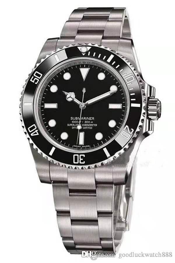 Designer montre sous-marin série montre 114060 hommes 40mm automatique en acier inoxydable mécanique pour montres de luxe