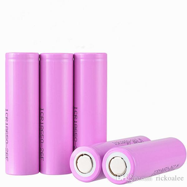 3.7V 2600mAh per Samsung ICR18650-26F Ricaricabile 18650 batteria agli ioni di Li-ioni di Li-ioni reali Batterie per la torcia elettrica a LED E-bike
