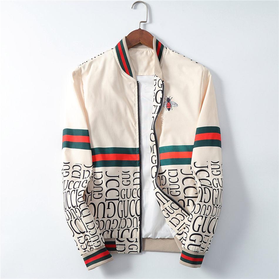 Erkekler Medusa Ceketler Uzun Kollu Fermuar Ceket Moda Desen Slim Fit WINDBREAKER Mens antumn Kış Outdoorwear Coats yazdır