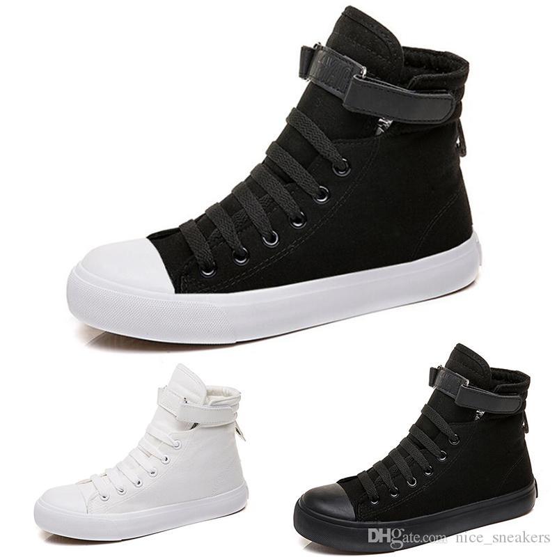 Mulheres baratos Casual Sneaker Triplo Preto Moda Womens Pure pano branco Outdoor Shoes frete grátis Tamanho 36-39