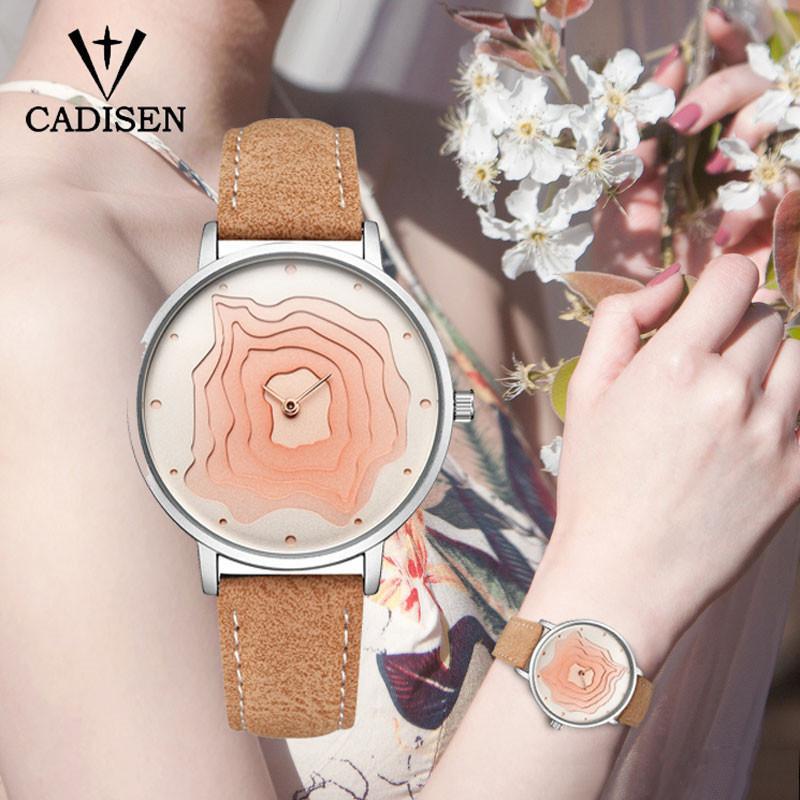 orologio da donna all'ingrosso orologio da donna 2019 oro orologio al quarzo di lusso orologio sportivo in pelle impermeabile orologio di moda Relogio Masculino