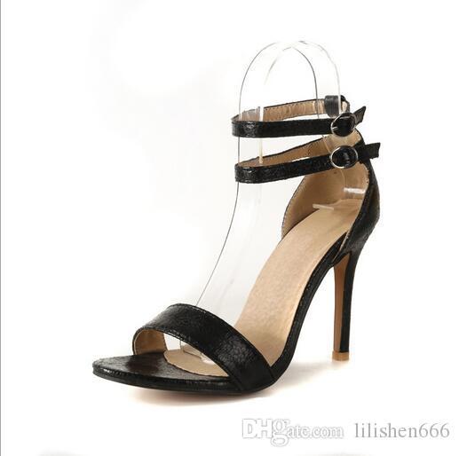 Yeni model Bilek tokalı süper yüksek topuk Kadın sandalet