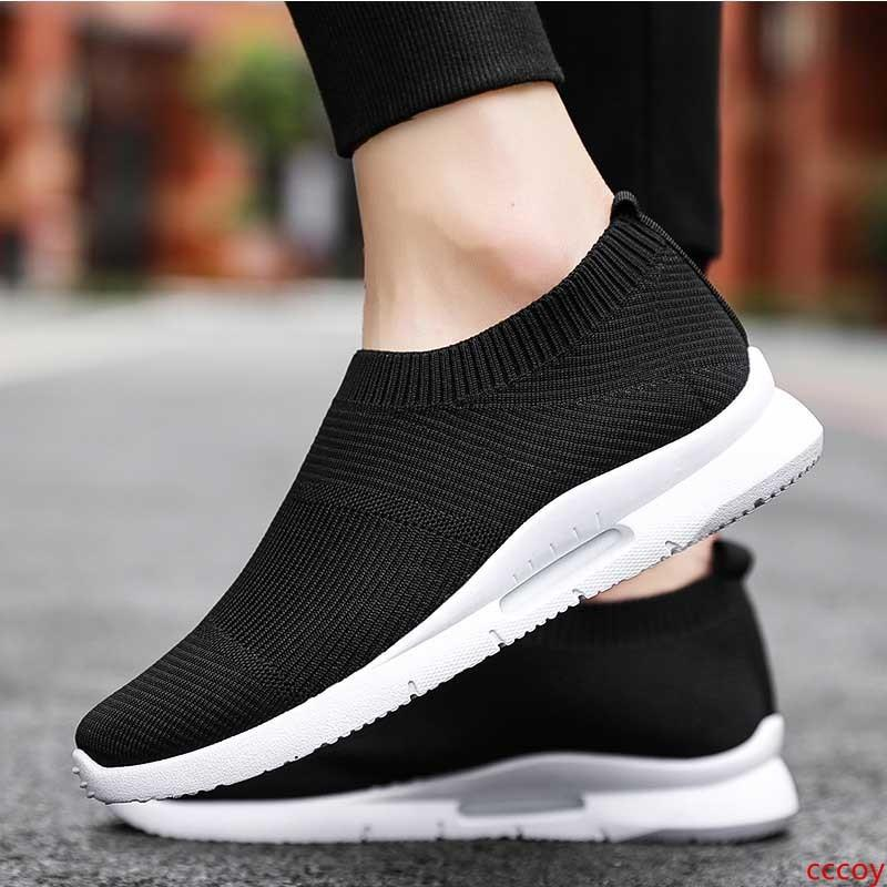 Cheap causal shoes all white black comfortable designer shoes black white fly outdoor jogging walking sneakers sports shoes size 39-44