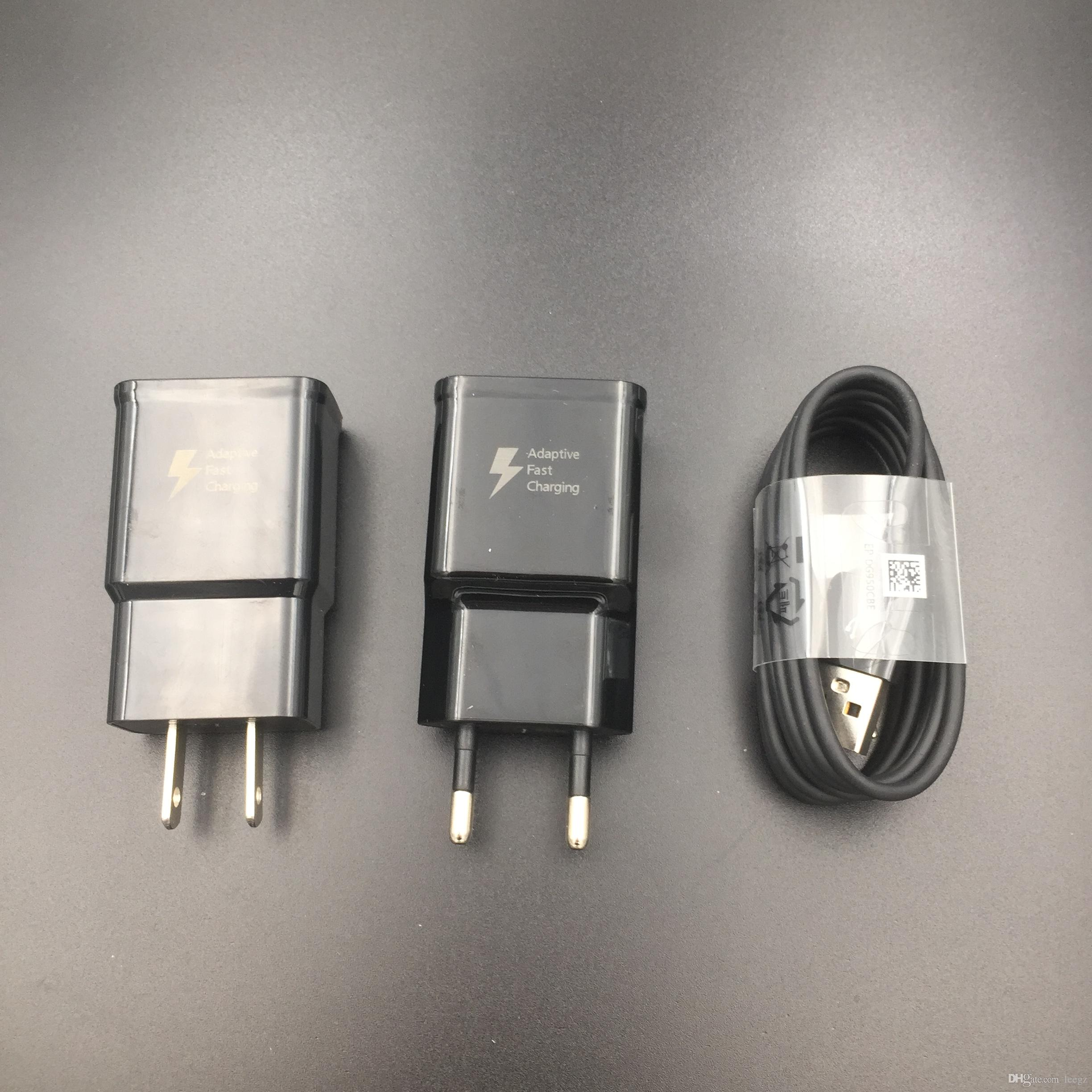 Samsung S8 S9 Plus S 8 Fast Charger Original Adaptive Quick Travel Wall  Adapter Charge Type C Cable 9V1 67A&5V2A Charging