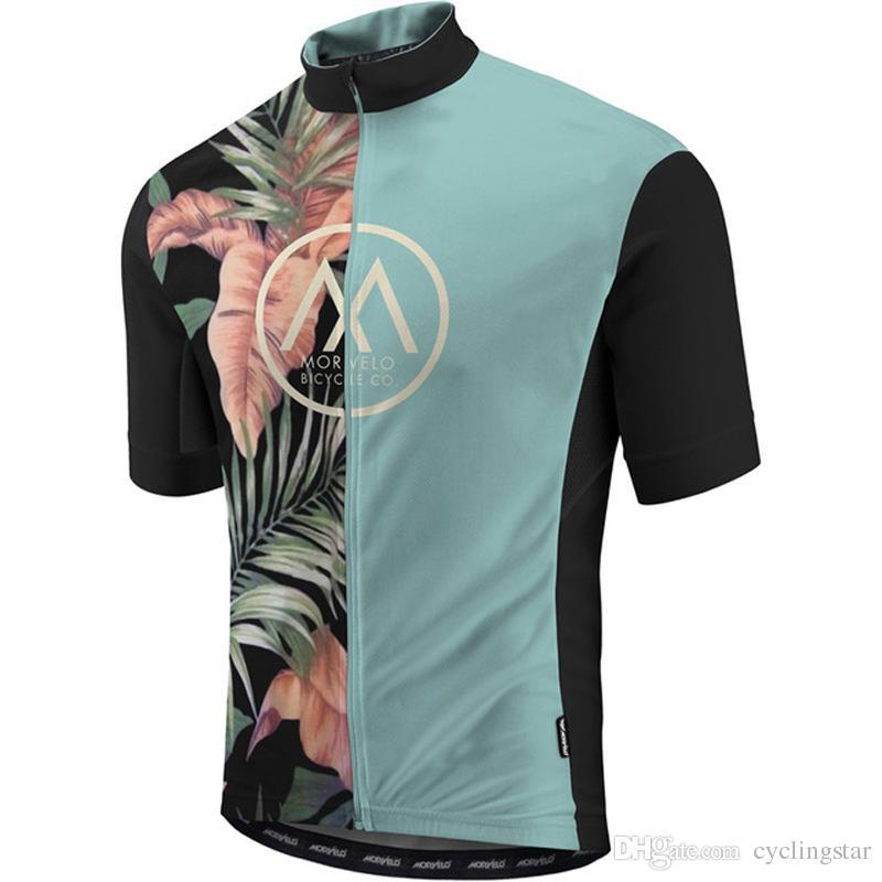 Morvelo ciclo Jersey verano de los hombres de manga corta camisa de la bici Tour de Francia de bicicletas de carreras encabeza transpirable de secado rápido 112910Y ropa de ciclismo