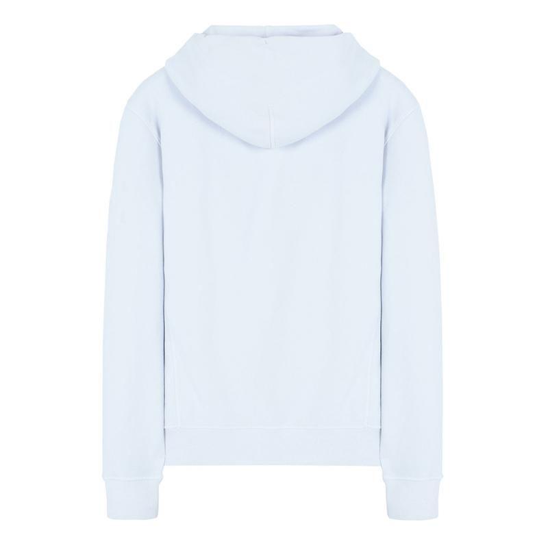 2PAC Tatouages Sweat-shirt Unisexe Blanc Sweat à capuche avant et arrière Design