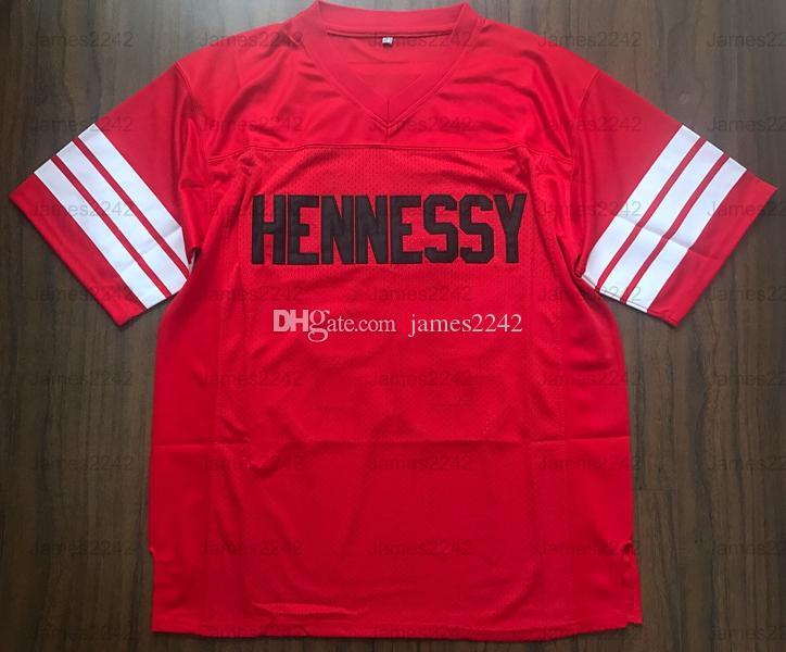 Prodigy # 95 Hennessy Queens Bridge Football Football Jersey Red Tous cousu rouge S-3XL Haute Qualité Livraison gratuite