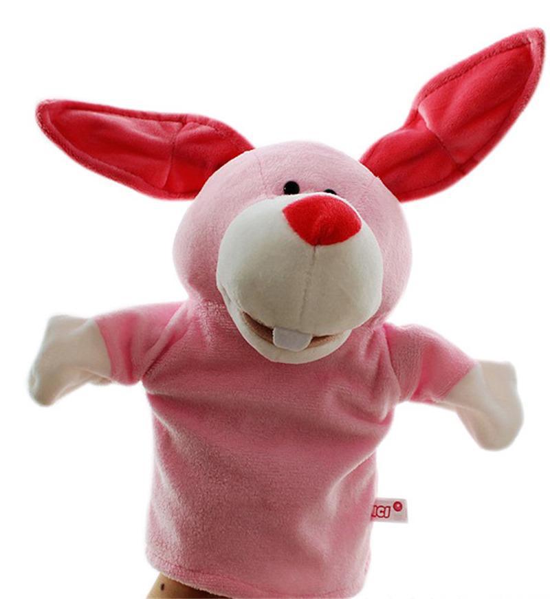 Marionnettes en peluche Mignon Main d'animal poupée Narration bébé garçon jouet éducatif Jouet Noël Jouet cadeau