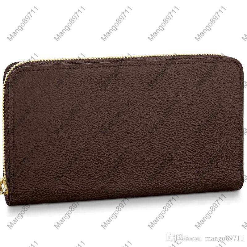 ZIPPY WALLET VERTICAL Carry Mode dans les cartes de l'argent et des pièces Hommes Porte-cuir Porte-carte Mode longue d'affaires 4 couleurs