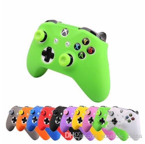 NEU 18 Farben für XBox One Controller Silikonhülle + Analoge Daumenstick-Griffkappe für XBox One 1 X S Joystick