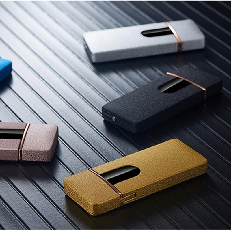 Newest Ultra-thin Colorful USB Zinc Alloy Cycle Charging Touch Induction Switch Lighter For Cigarette Glass Bong Smoking Pipe Hot Cake