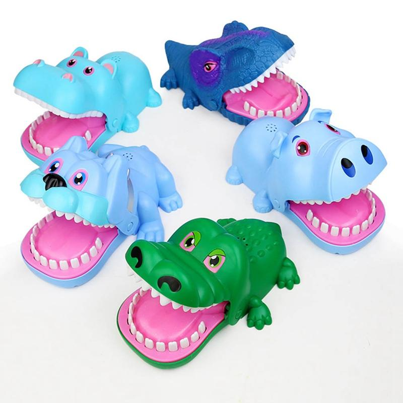 Parmak Oyuncak Evil Köpek El Oyuncak Ekstraksiyon Oyun Çocuk Trick Kişi Dikmeler İçin Çocuk Oyun Eğlence Bite Bite timsah