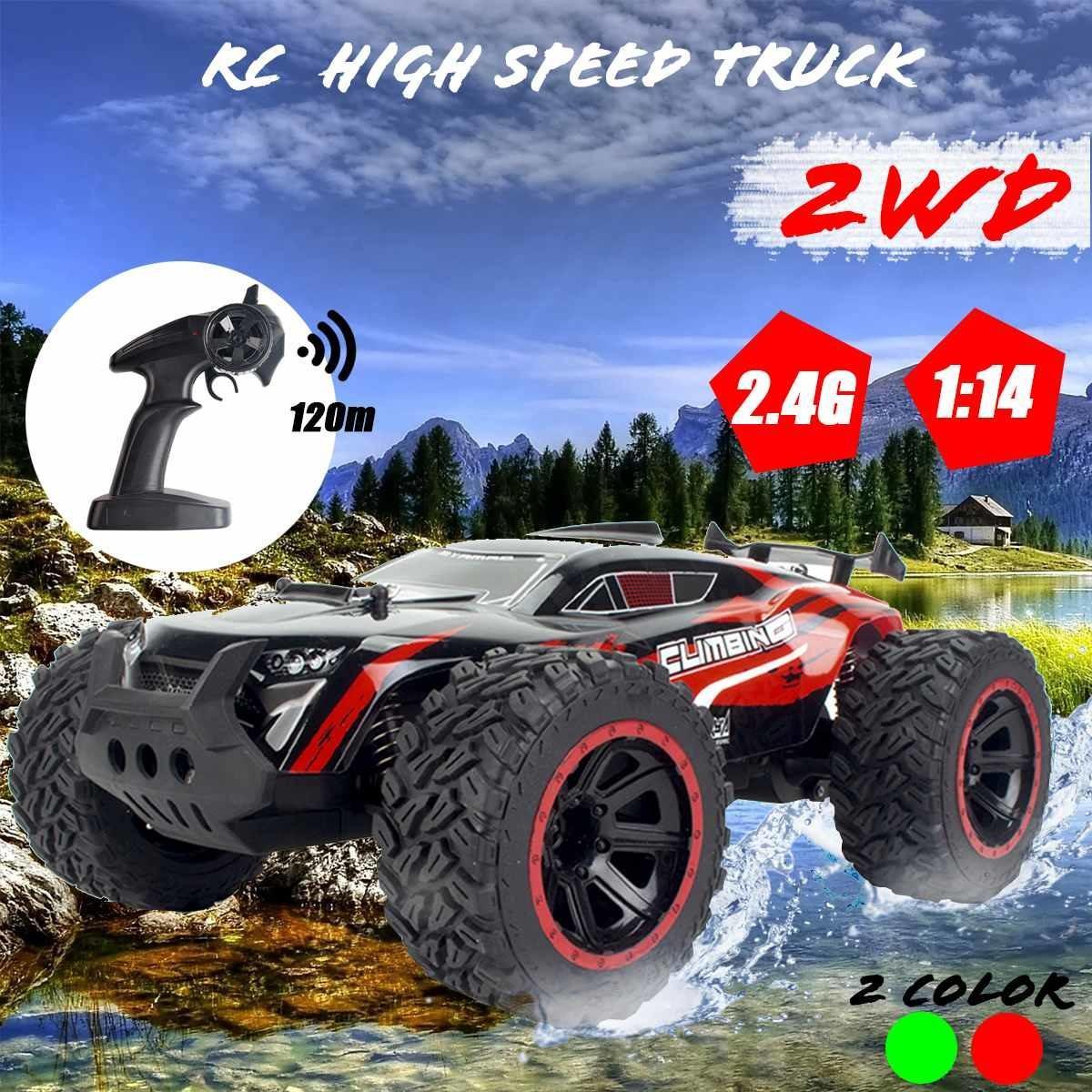 01:14 70km / sa 2WD RC Uzaktan Kumanda Off Road Yarışı Otomobil Araç 2.4Ghz tarayıcılar Elektrikli Canavar RC Araba MX200414