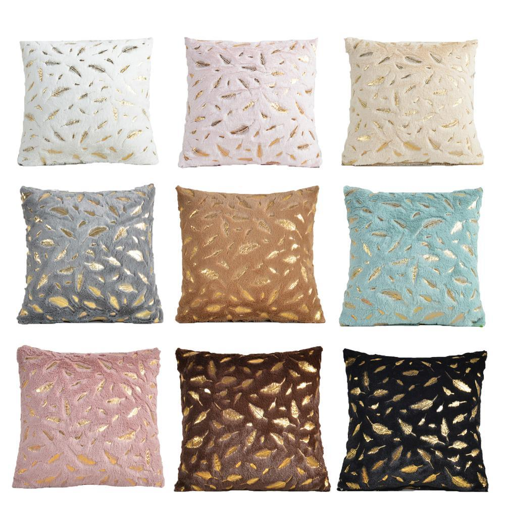 Decorative Cushion Cover Fur Feather Home Plush Pillow Case Decorative  Throw Pillow Cover Seat Sofa Bed Decoration Pillowcases King Pillow Case