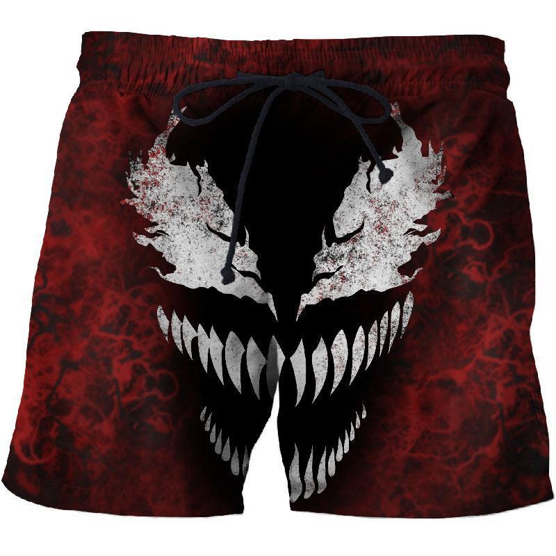 2020 Venom 3d печати шорты для мужчин женские летние пляжные шорты хип-хоп комфортабельной Streetwear Unisex