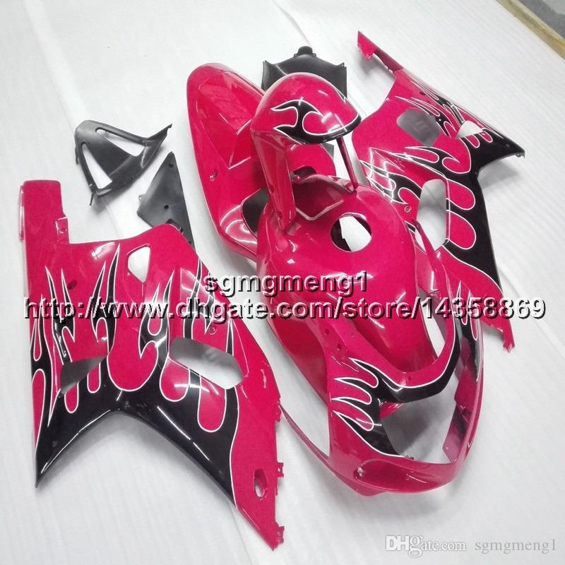 23colors+Botls pink motorcycle cover for Suzuki GSXR600750 2001 2002 2003 ABS Plastic motor Fairing