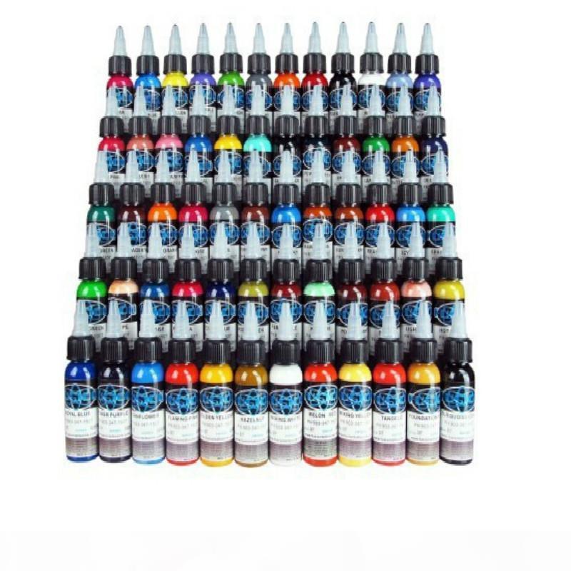 Новые чернила татуировки Fusion 60 цветов Набор 1 унции 30ml бутылки пигмента татуировки Kit Бесплатная доставка