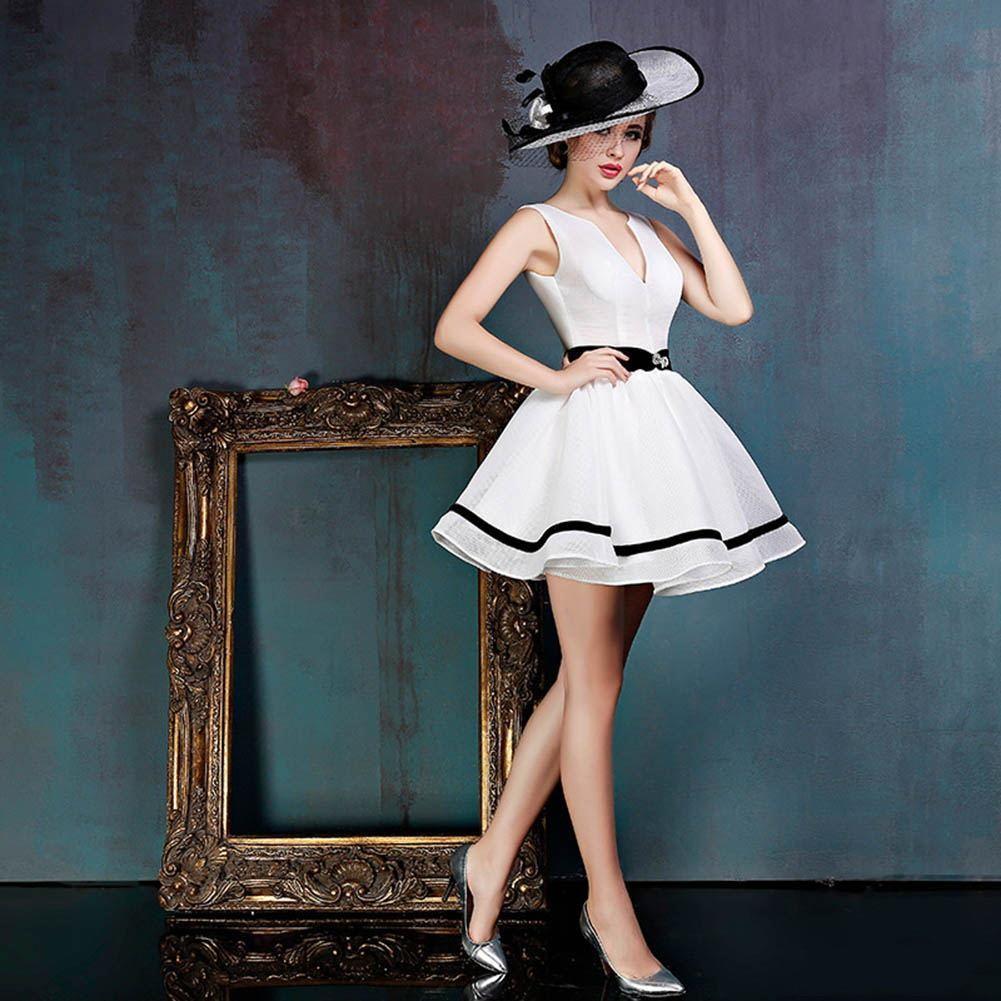 2020 nuovo modo breve in rilievo dei vestiti da sera di usura profondo scollo a V Pieghe sera abiti formali con Prom Dress Ante pizzo Abiti De Festa