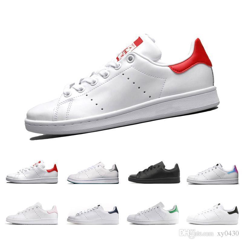 2018 Raf Simons Stan Smith Bahar Bakır Beyaz Pembe Siyah Moda Ayakkabı Adam Casual Deri marka kadın erkek ayakkabı Flats Sneakers