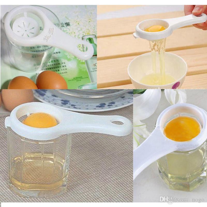 Separatore di uova bianche di plastica dello strumento del setaccio del dispositivo di cottura della cucina del separatore del tuorlo d'uovo della famiglia
