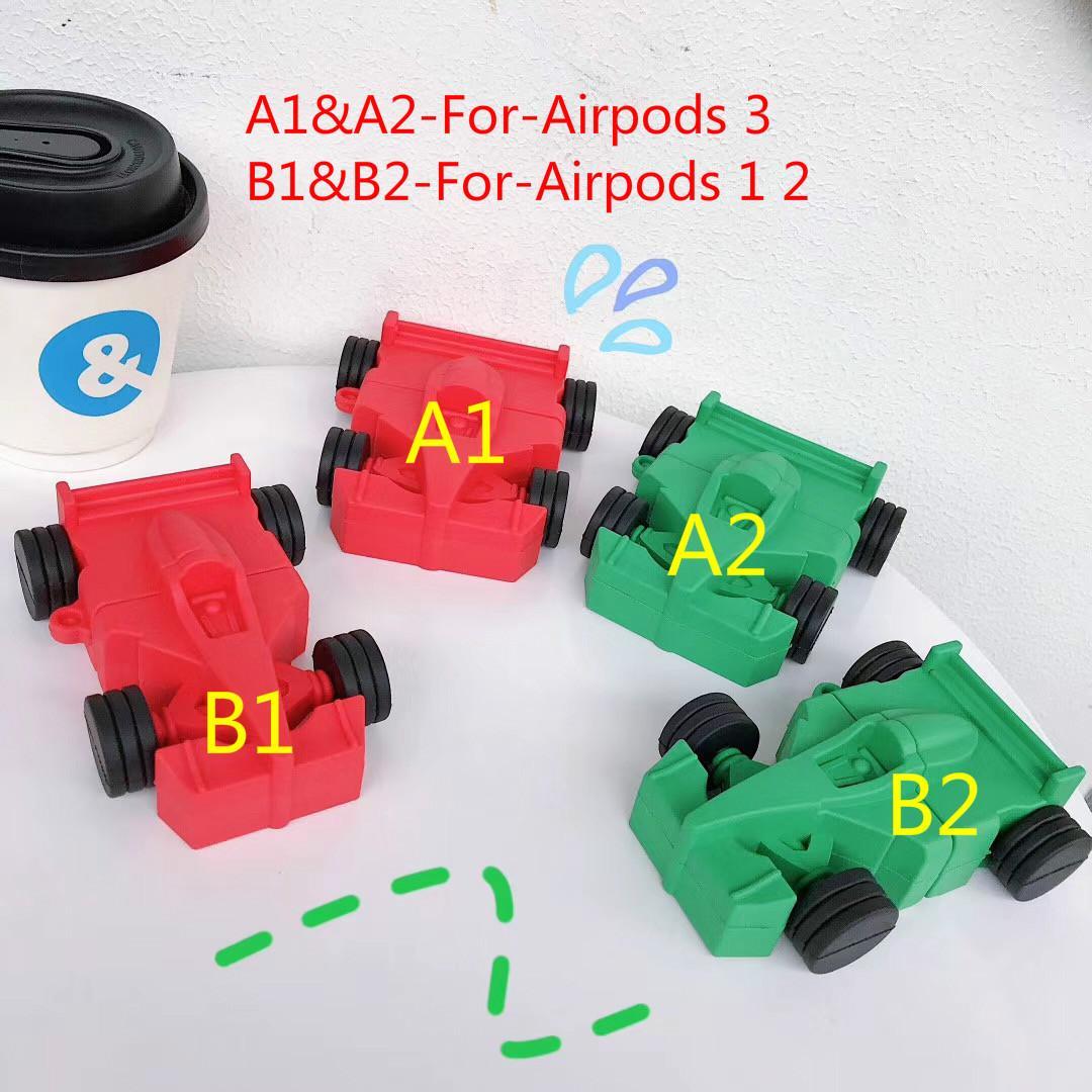 Auto in silicone caso airpods progettazione per AirPods 1 2 F1 Racing caso modello di auricolare per Apple airpods pro